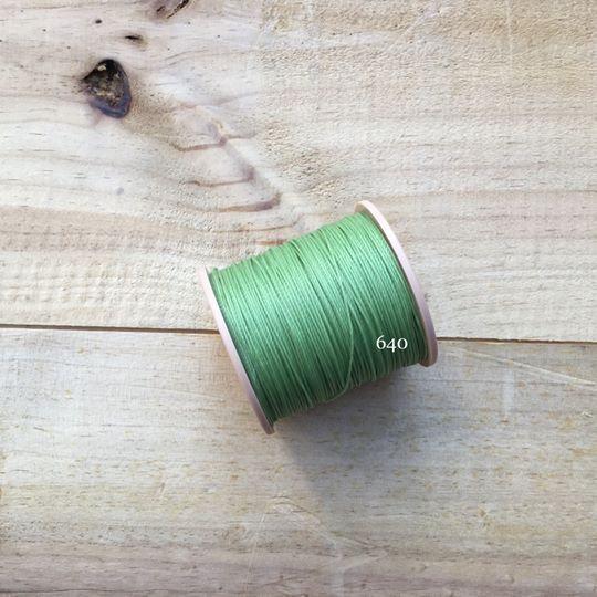 0.65mm 圓蠟線 No.640 淺草綠