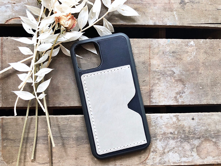 【好好縫】拼色 iPhone 11系列 皮革電話殼 (咭位)|皮革D.I.Y材料包