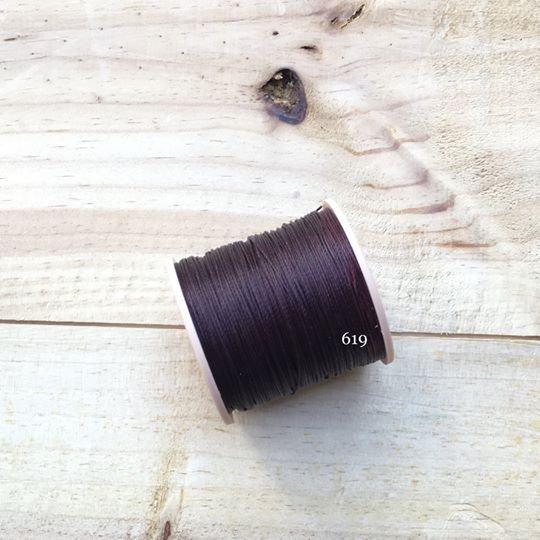 0.65mm 圓蠟線 No.619 酒紅色