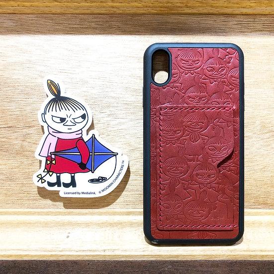 MOOMIN x 港產皮革 密舖阿美iPhone咭位手機殼
