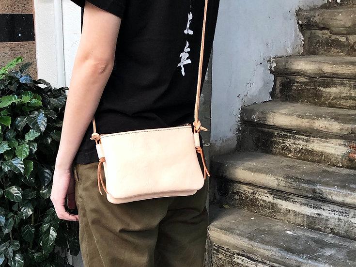 【好好縫】雙層拉鏈斜揹袋 / 手提包|皮革D.I.Y材料包
