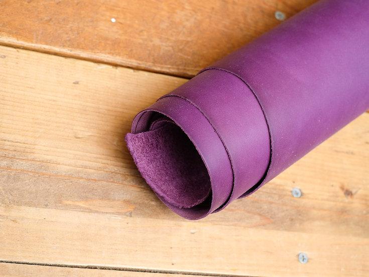 意大利A3植鞣牛皮 - 紫色 PURPLE 1.0mm半裁