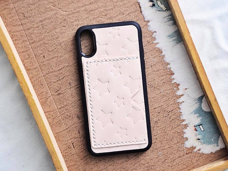 【好好縫】iPhone 星星印花電話殼 (咭位)|皮革D.I.Y材料包