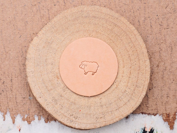 Craft Japan 皮革印花工具 E582 綿羊