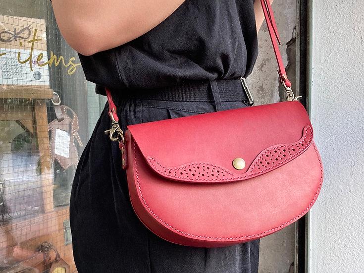 【好好縫】通花皮邊斜揹袋|皮革D.I.Y材料包