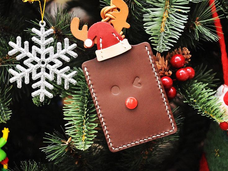 【好好縫】聖誕小鹿卡片套|皮革D.I.Y材料包