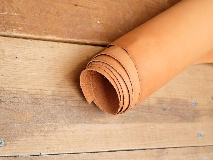 意大利A3植鞣牛皮 - 啡黃 N.TAN|1.0mm半裁