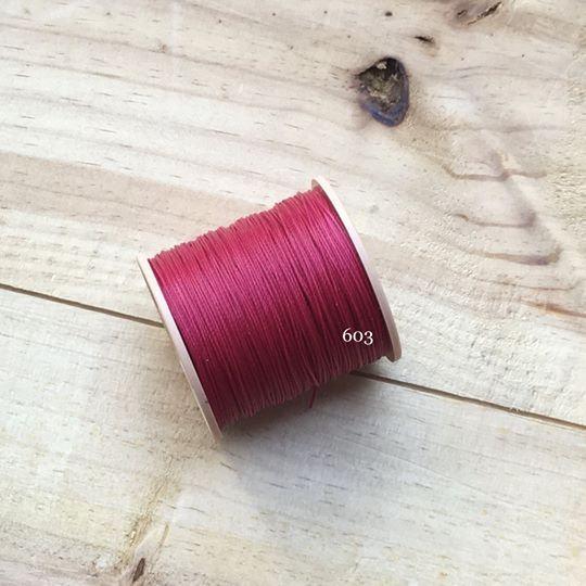 0.65mm 圓蠟線 No.603 玫瑰紅