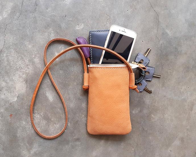 【好好縫】摔紋直身拉鏈斜揹袋|皮革D.I.Y材料包