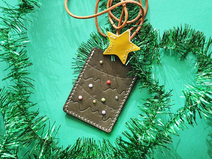 【好好縫】聖誕樹卡片套|皮革D.I.Y材料包