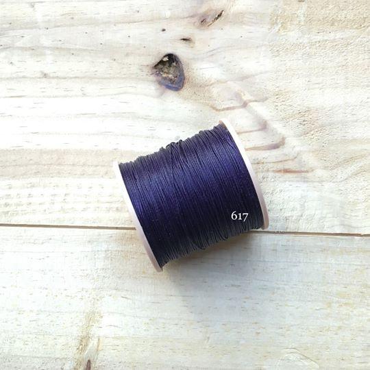 0.65mm 圓蠟線 No.617 深紫色