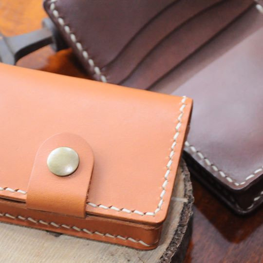 【好好縫】對摺咭套(風琴位+咭位)|皮革D.I.Y材料包