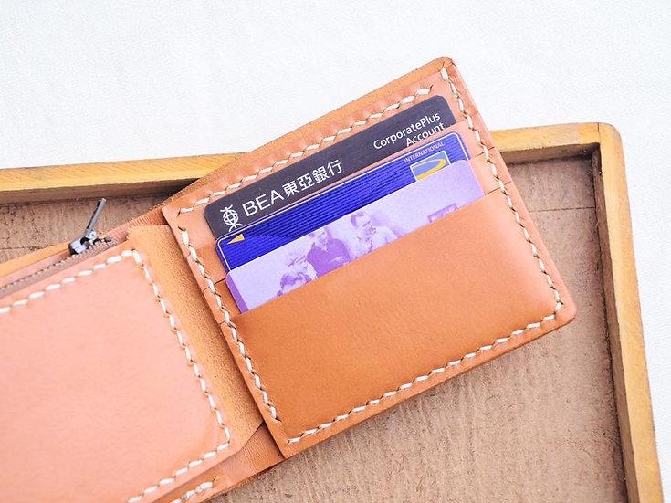 【好好縫】3咭位+散紙位+相位 對摺銀包|皮革D.I.Y材料包