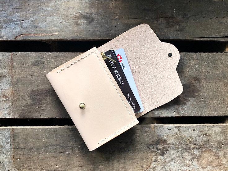 【好好縫】雙層拉鏈卡片套|皮革D.I.Y材料包