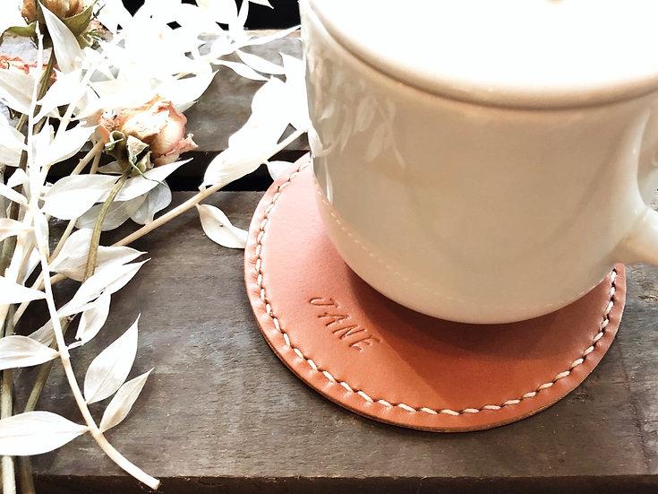 【好好縫】圓形杯墊|皮革D.I.Y材料包