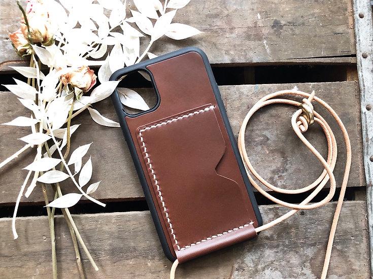 【好好縫】 iPhone 皮革斜背電話殼 (咭位) 皮革D.I.Y材料包