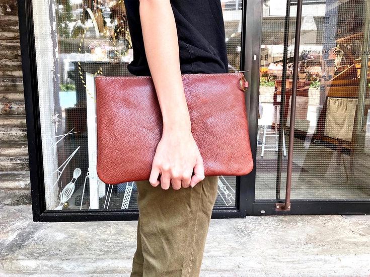 【好好縫】軟身拉鏈手提包 L|皮革D.I.Y材料包