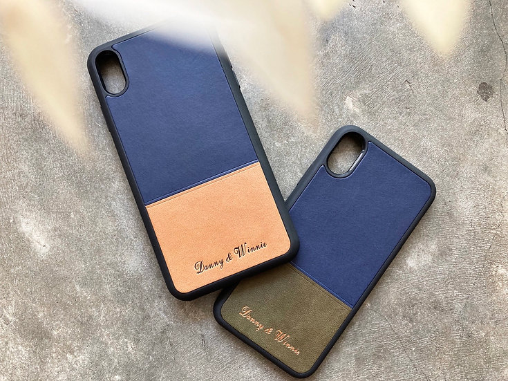 【好好縫】拼色 iPhone 皮革電話殼|皮革D.I.Y材料包