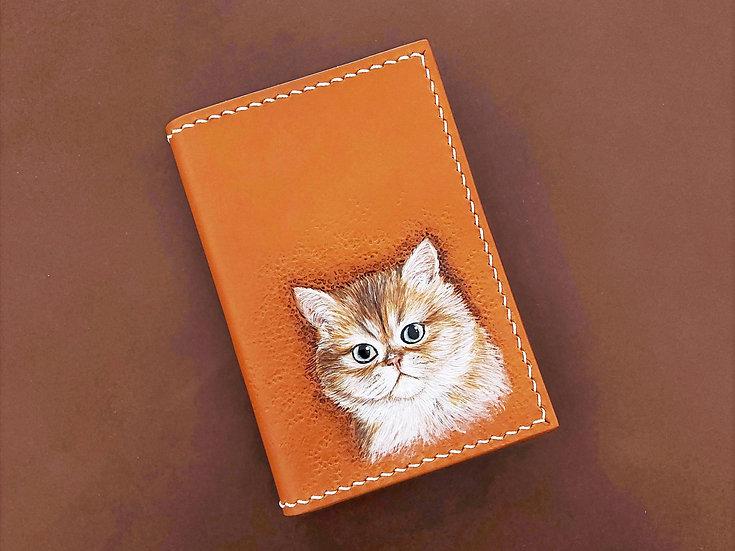 【好好縫】寵物皮雕 雙咭位夾位護照套 皮革D.I.Y材料包