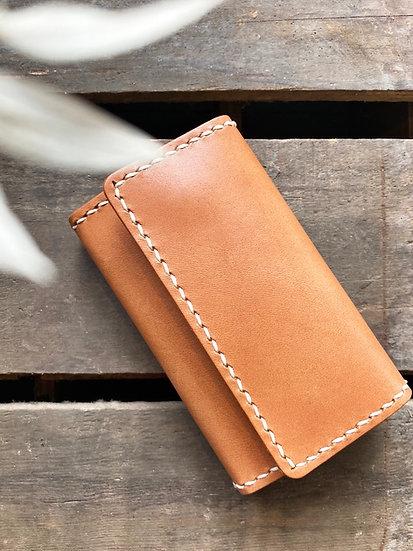 【好好縫】三摺鎖匙包 皮革DIY材料包