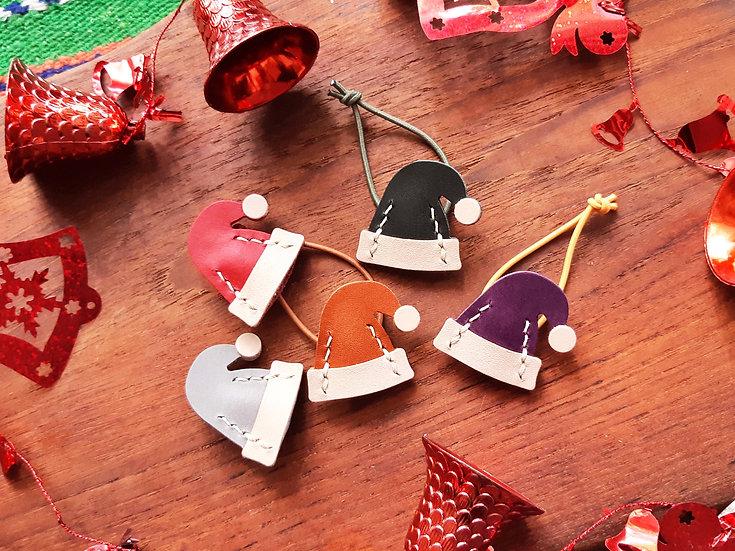 【好好縫】聖誕小帽 襟針/髮飾橡筋|皮革D.I.Y材料包