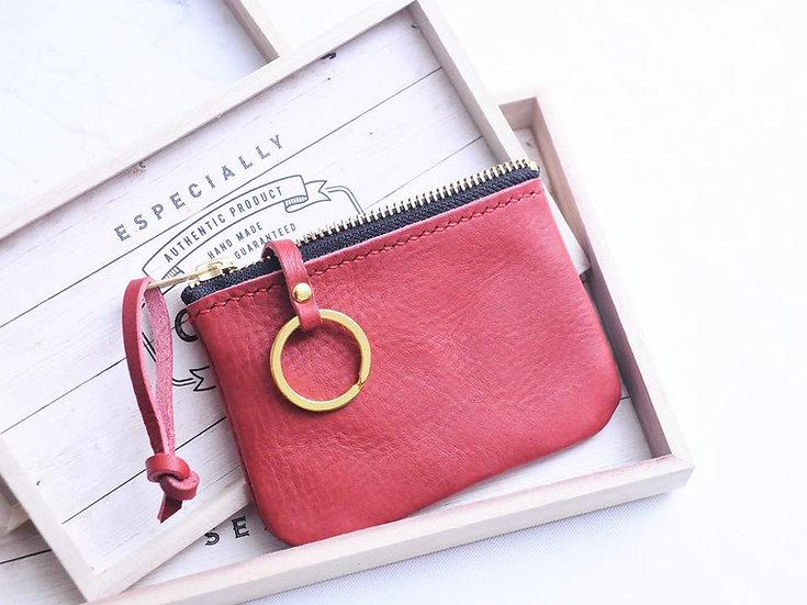 【好好縫】經典拉鏈摔紋鎖匙包|皮革D.I.Y材料包