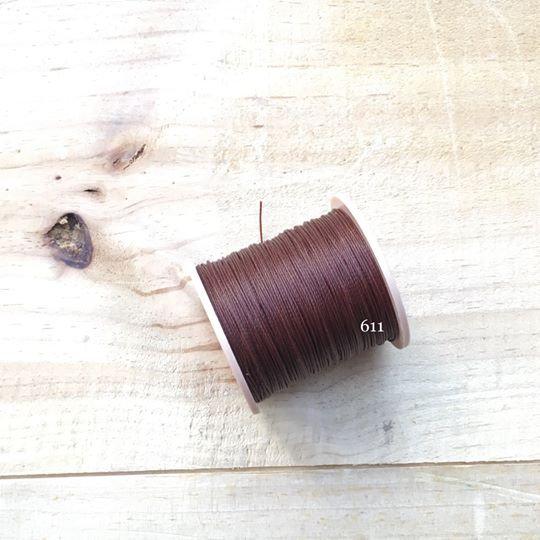 0.65mm 圓蠟線 No.611 咖啡色