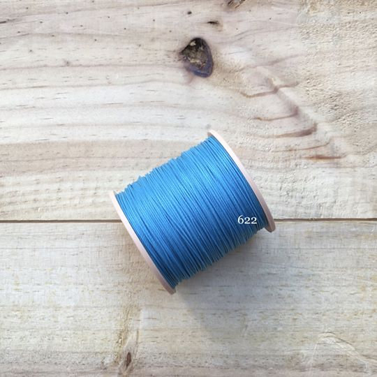0.65mm 圓蠟線 No.622 淺藍色