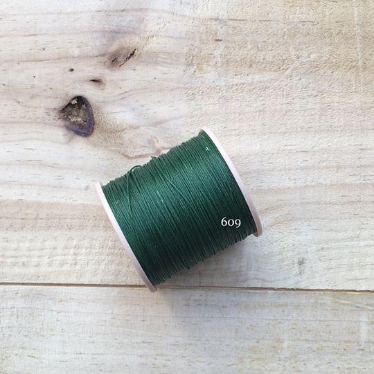 0.65mm 圓蠟線 No.609 深綠色