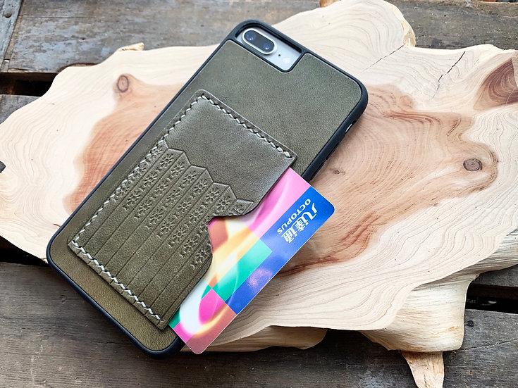 【好好縫】通花鐵閘 iPhone 皮革電話殼 (咭位)|皮革D.I.Y材料包