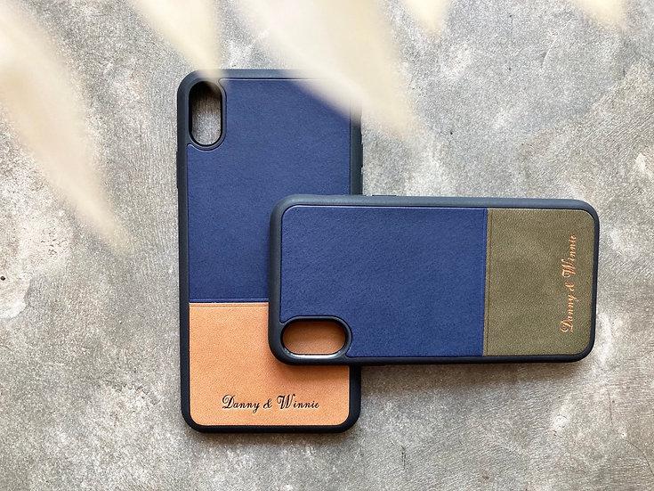 成品製造|拼色 iPhone 皮革電話殼