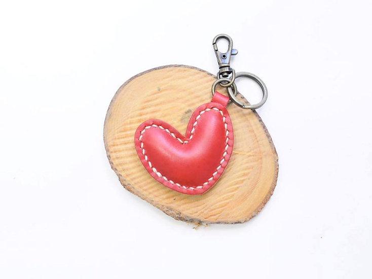 【好好縫】心形鎖匙扣|皮革D.I.Y材料包