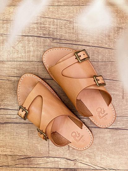 日本職人手製皮革涼鞋 - SAI  雙搭帶 革サンダルキット