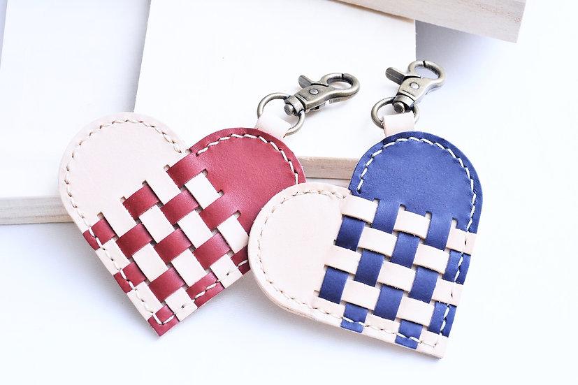 【好好縫】織皮心形鎖匙扣|皮革D.I.Y材料包
