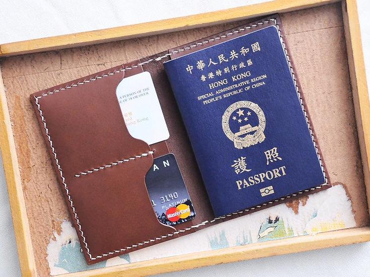 【好好縫】雙咭位夾位護照套 皮革D.I.Y材料包