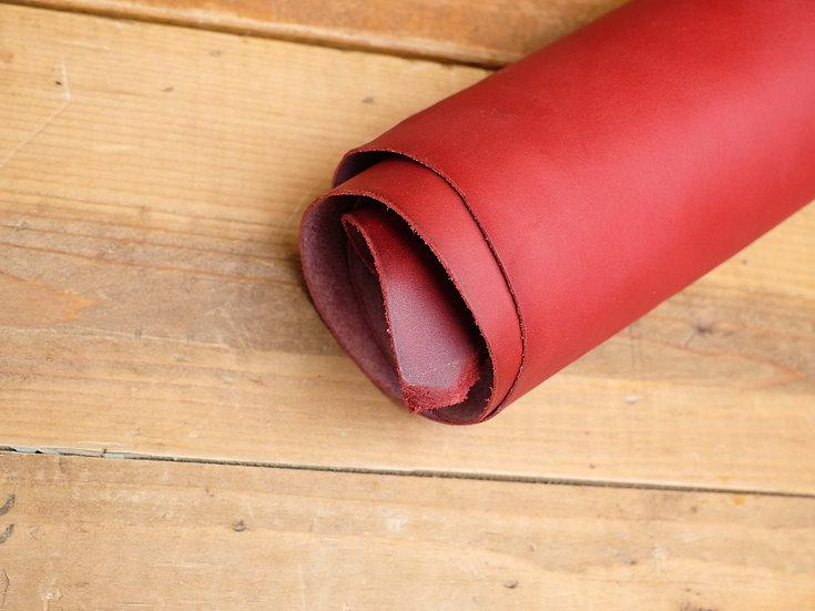 意大利A3植鞣牛皮 - 酒紅 VINO|1.0mm半裁