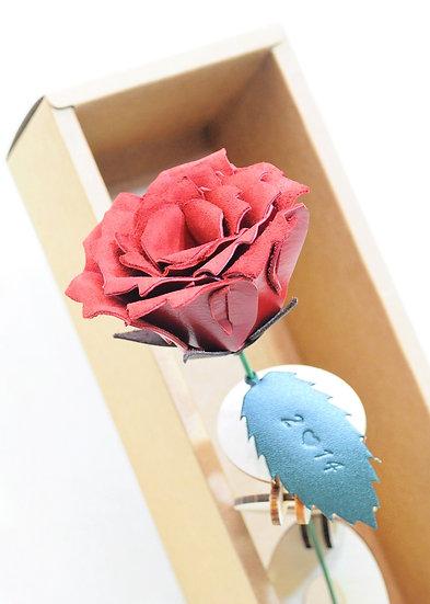 皮革玫瑰花(連木製花架)|皮革D.I.Y材料包