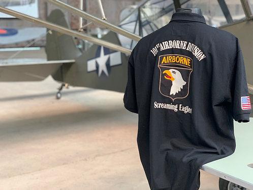 Polo 101ème Airborne brodé