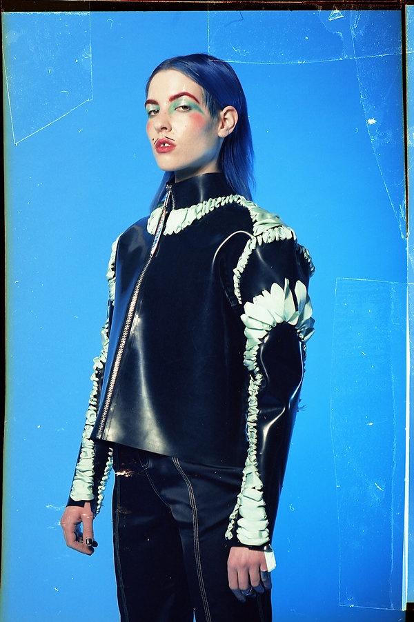 Dorian Electra for HUNGER wearing T MITR