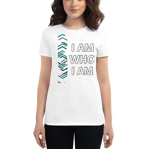 Women's short sleeve t-shirt - I Am Who I Am