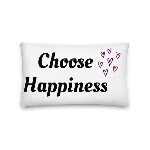 Premium Pillow - Choose Happiness (Purple)