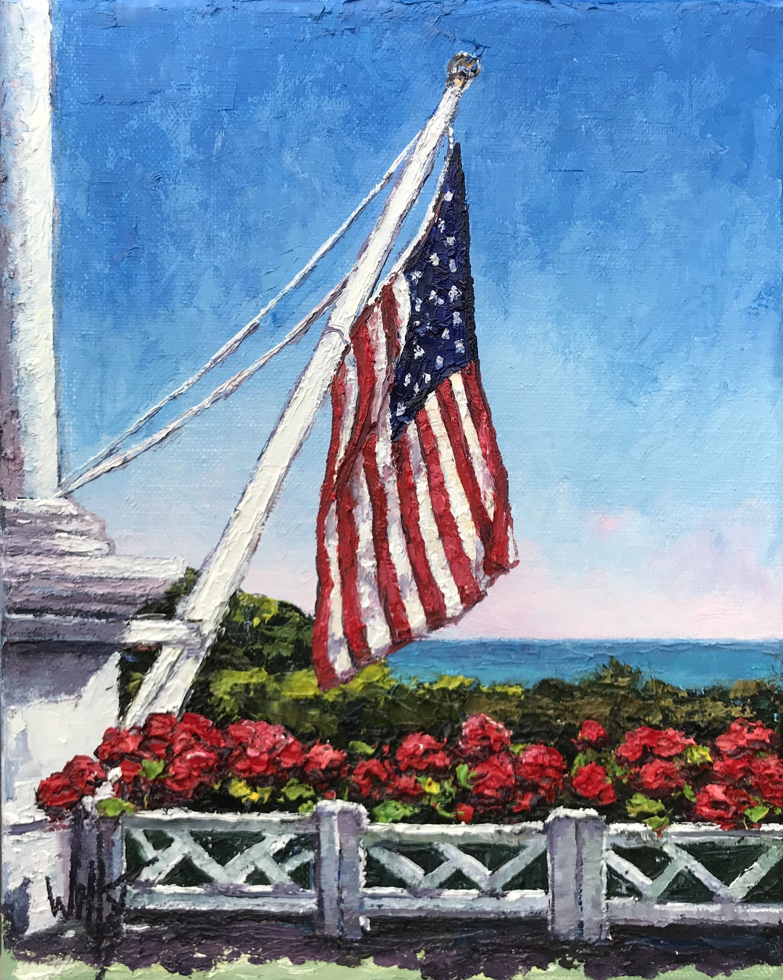 "Oil- ""The Grand Flag""-SOLD"