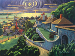 View from the Fort (Night) - SOLD