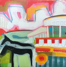 Horse, Carriage and Grand Hotel-SOLD