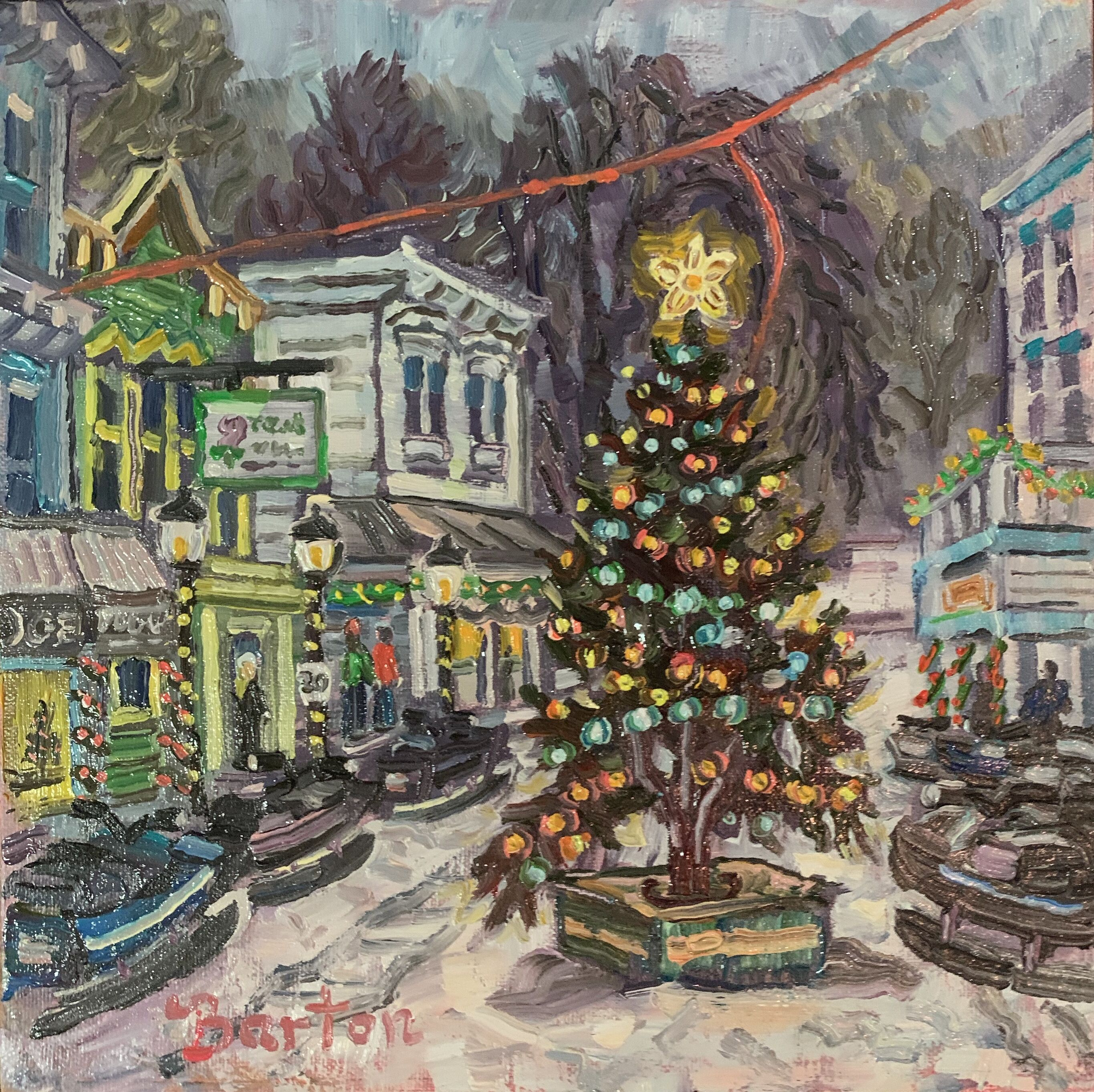 December on Main Street-SOLD