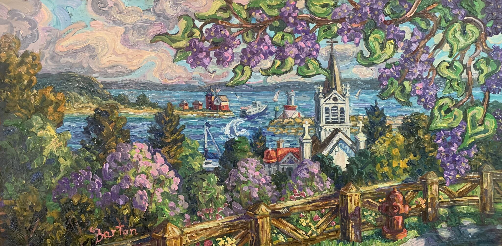 Lilacs Above St. Annes-SOLD