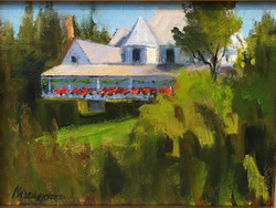 """Oil- """"View from the Porch"""""""