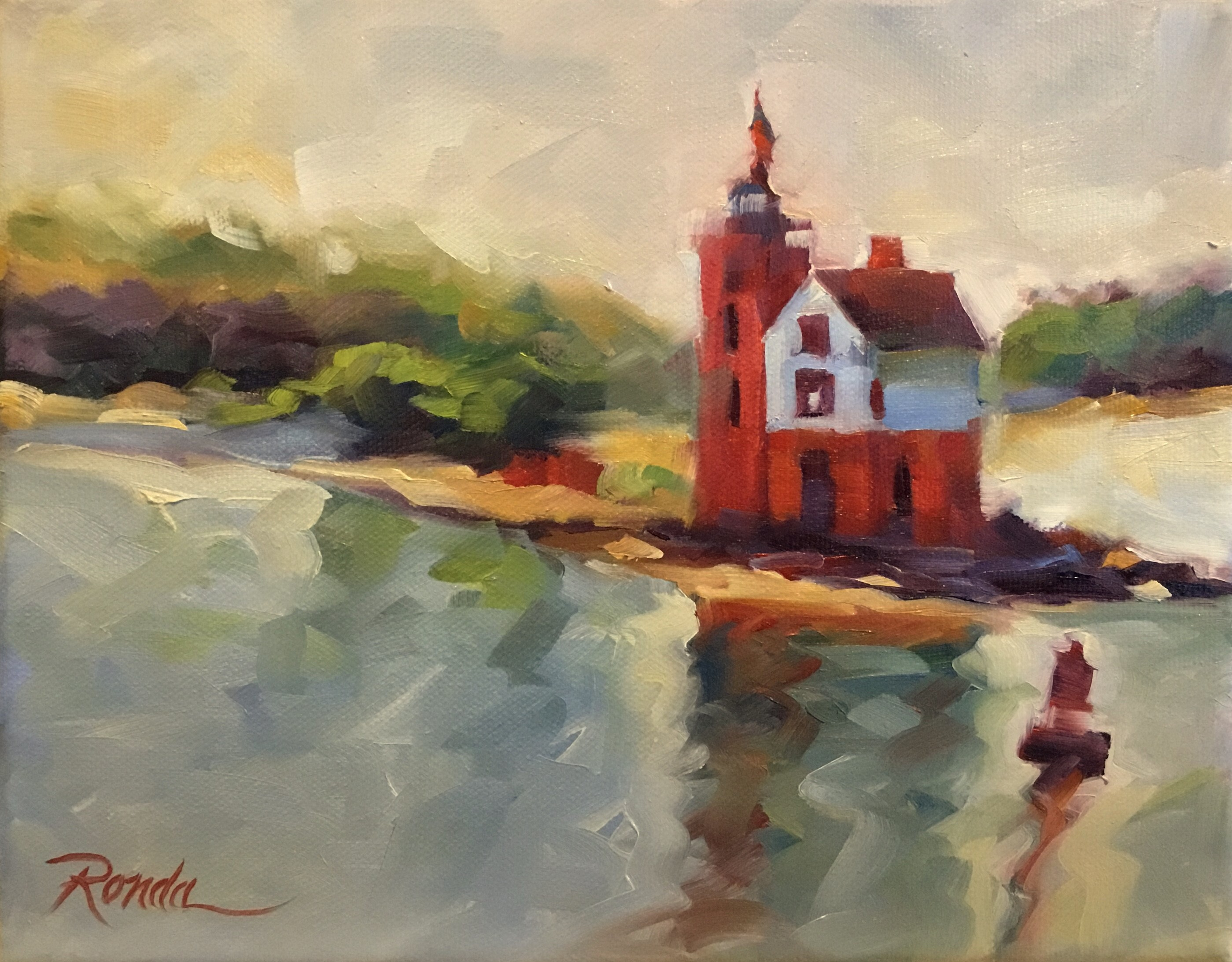 Round Island Reflections-SOLD