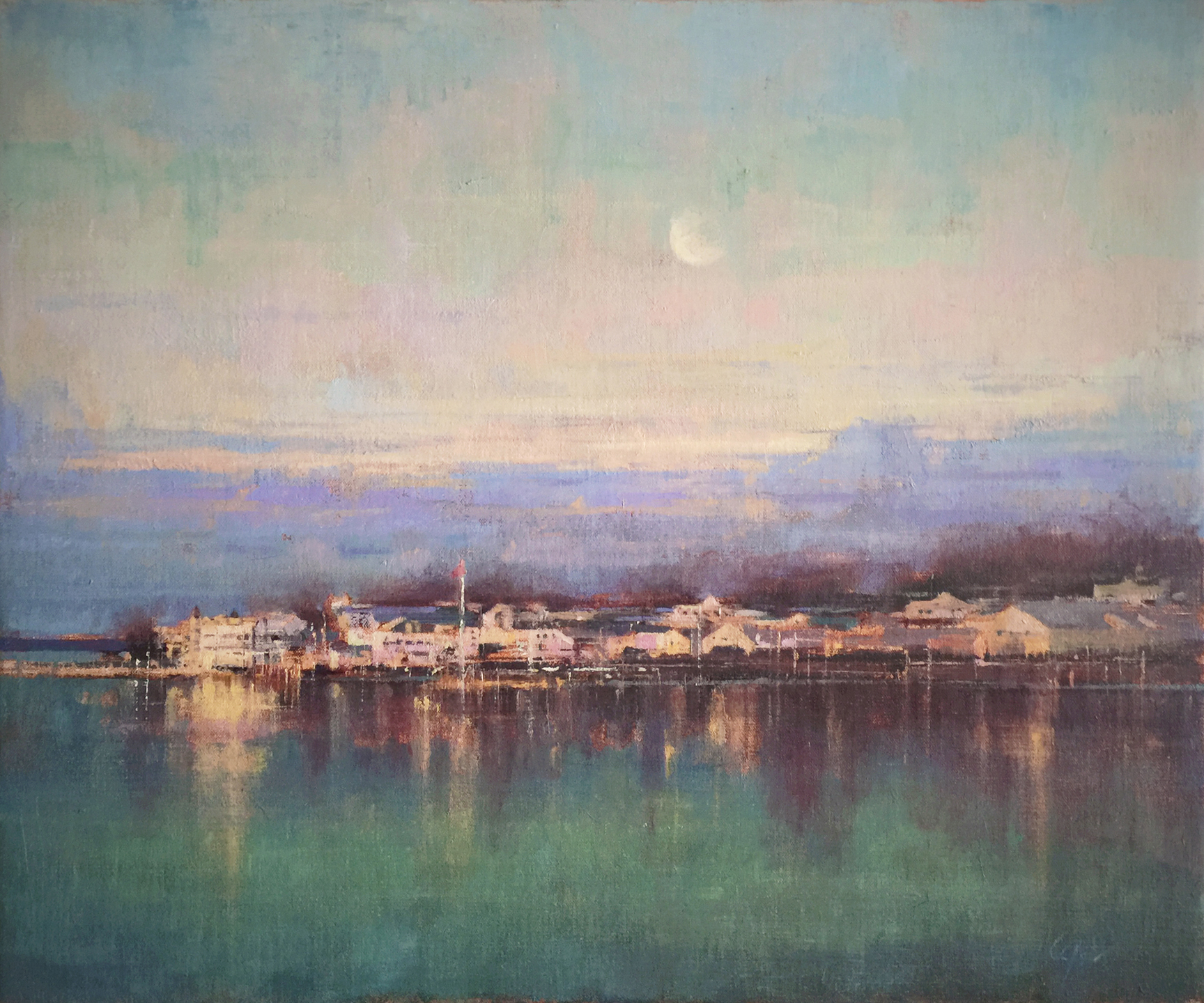 Moon over Mackinac