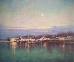 Moon over Mackinac